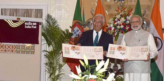 Commemorative Joint Issue Stamps on Diplomatic relations between India and Portugal