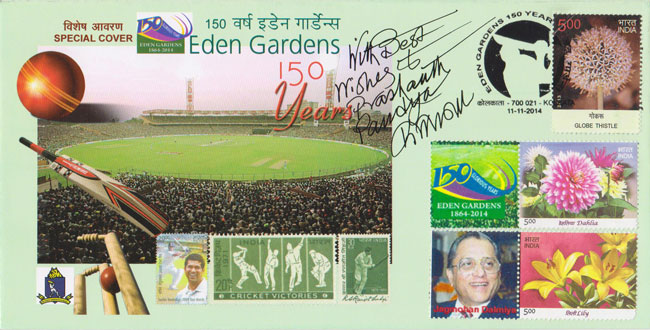 Special Cover and Customised 'My Stamp' to commemorate 150 years of the Eden Gardens