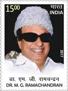 Commemorative Stamp on Dr. M. G. Ramachandran