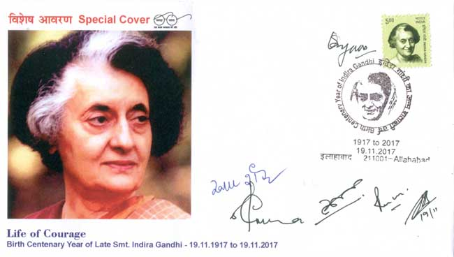 Special Cover on Birth Centenary of Smt. Indira Gandhi