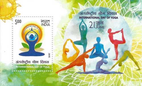 International Day of Yoga Miniature Sheet