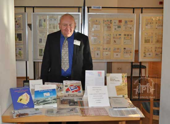 Presentation of Indian Philatelic material and literature at II AIBIBRIA, Zörbig, Germany
