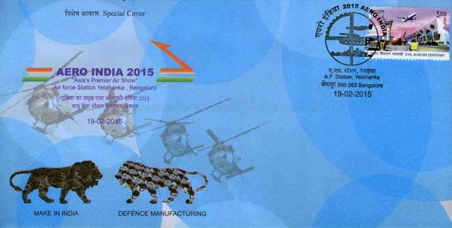 My Stamp and Special Cover released on 'Aero India 2015'
