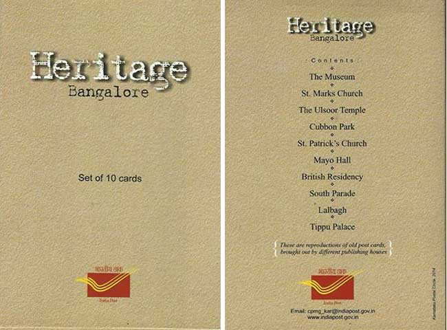 Bangalore Heritage Picture Post Cards