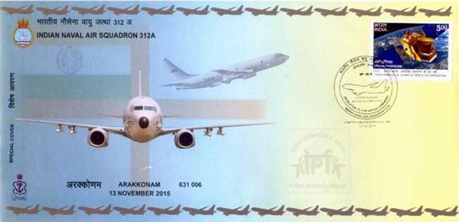 Special cover on dedication of Boeing P 8 I in the service of the nation
