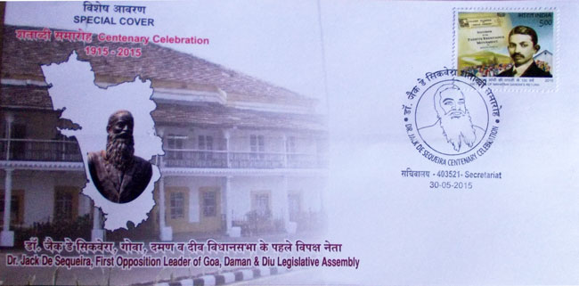 Special Cover on Dr. Jack De Sequeira, first opposition leader of Goa, Daman and Diu Legislative Assembly