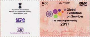 Global Exhibition on Services My Stamp Sheetlet