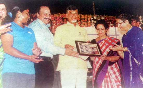 My Stamp presentation to Shri Chandrababu Naidu