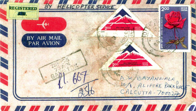 Helicopter Mail Cover