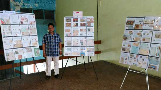 Philatelic Display on Archeology theme at National Seminar on Biodeterioration of Cultural Property & Conservation of Heritage Buildings at Vadodara