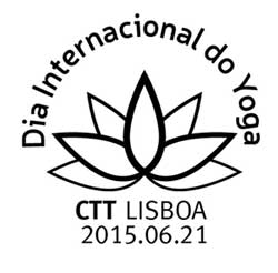 Commemorative Postcard on First International Day of Yoga (India – Portugal Joint Commemoration)