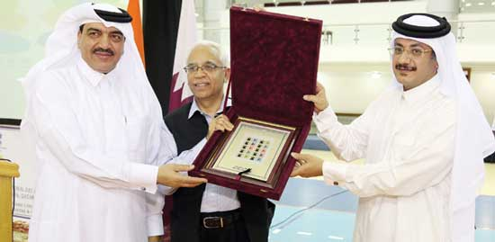 Commemorative Stamps on First International Yoga Day released by Q-Post, Qatar