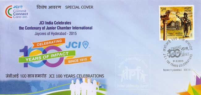 Special Cover on JCI 100 Years Celebrations