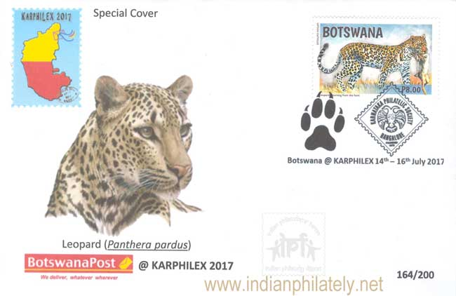 Special Cover of Botswana at Karphilex - 2017