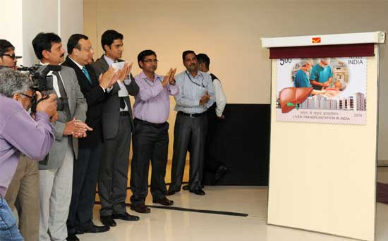 Commemorative Stamp on Liver Transplantation in India – 4th November 2014.