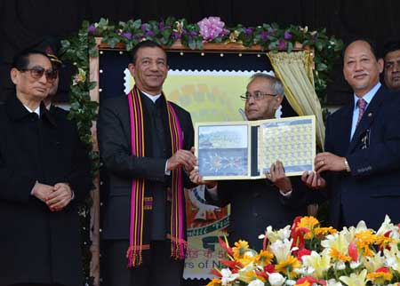 Nagaland State's Golden Jubilee Year Stamp Released
