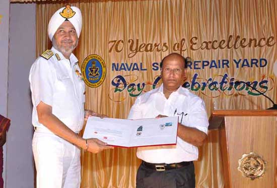 Special Cover on 70 Years of Naval Ship Repair Yard, Kochi