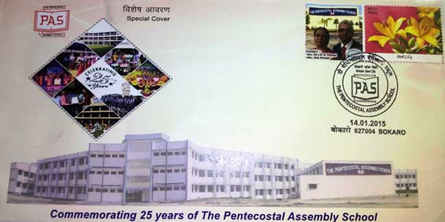 Special Cover on Pentecoastal Assembly School