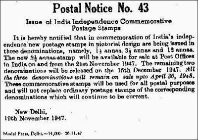Postal Notice No. 43