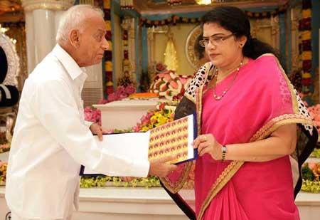 Sathya Sai Baba Stamp Release