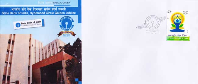 Special cover on State Bank of India Hyderabad Circle Golden Jubilee