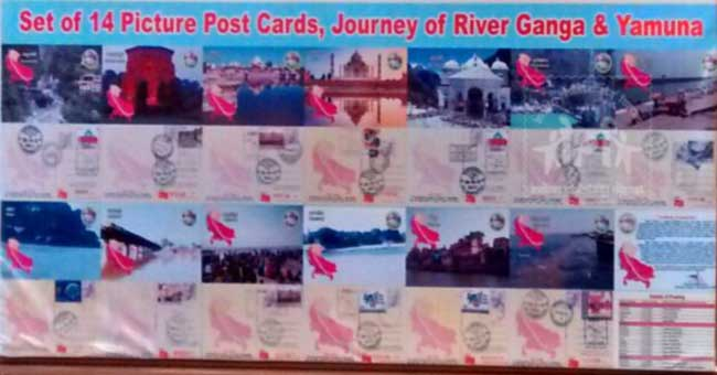 Release of Set of 14 Picture Postcards depicting journey of River Ganga and Yamuna