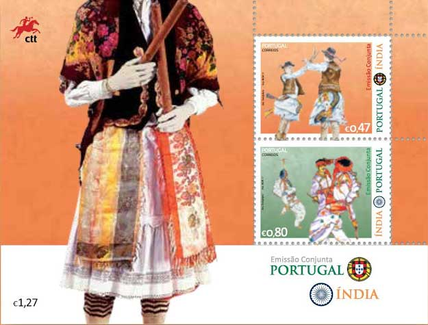 Joint Issue Stamps Of India And Portugal
