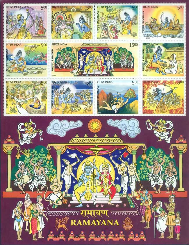 Commemorative Stamps on Ramayana