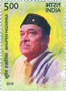 Commemorative Stamp on Commemorative Stamp on Bhupen Hazarika