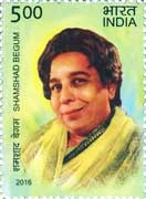 Commemorative Stamp on Commemorative Stamp on Shamshad Begum