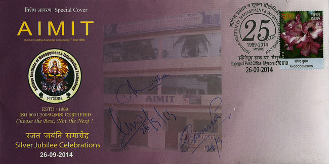 Special Cover on Silver Jubilee Celebration of Adithya Institute of Management & Information Technology, Mysore