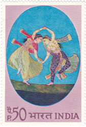 Indian Miniature Paintings - Dance Duet